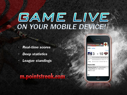 Real-time scores from Pointstreak available on your phone!
