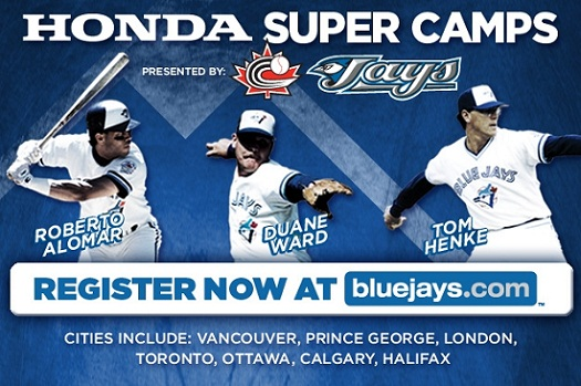 BLUE JAYS TO CONDUCT HONDA SUPER CAMPS ACROSS CANADA