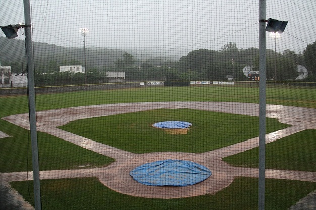 Peewee championship off to soggy start
