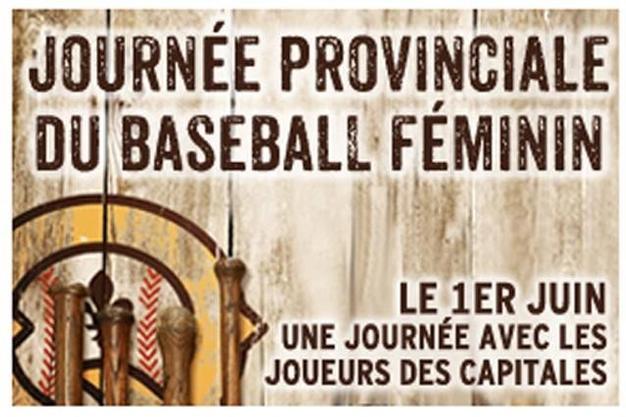 Baseball Québec's Provincial Girls Day on June 1st!