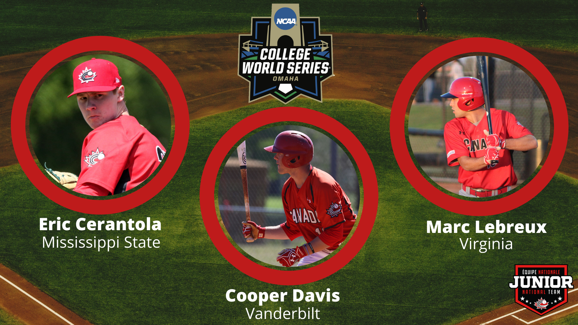 Three Canadians chasing College World Series title