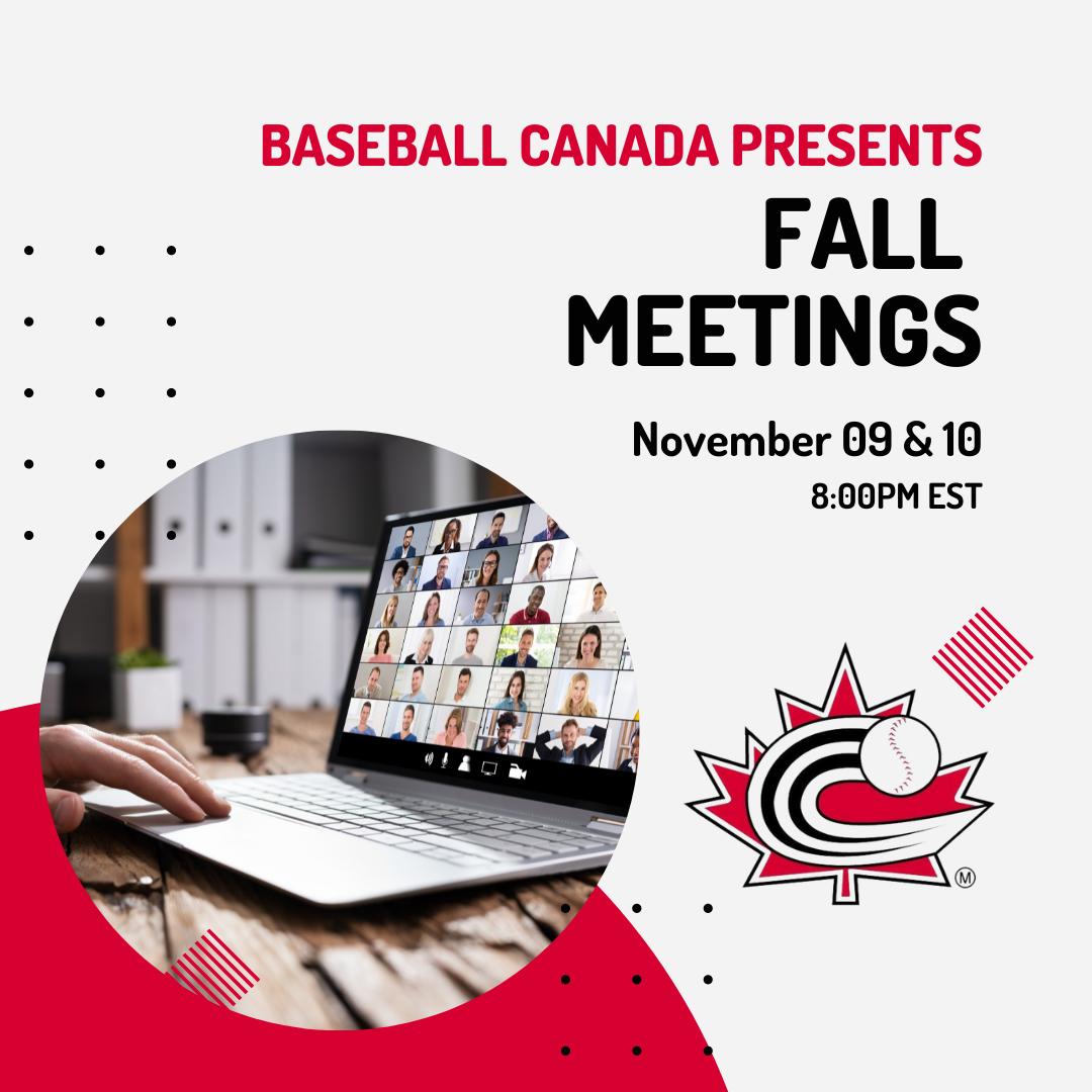 REGISTER: Baseball Canada 2021 Virtual Fall Meetings!