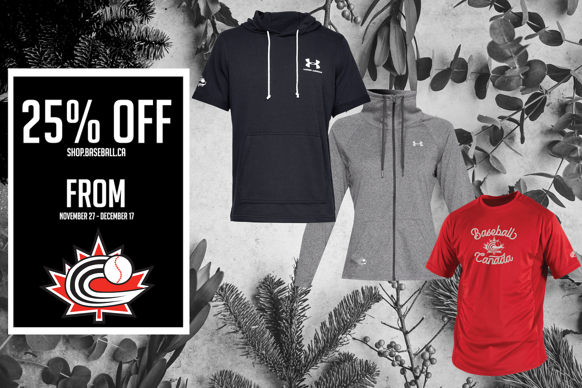 Just in time for the Holidays – Baseball Canada Merchandise now 25% off!