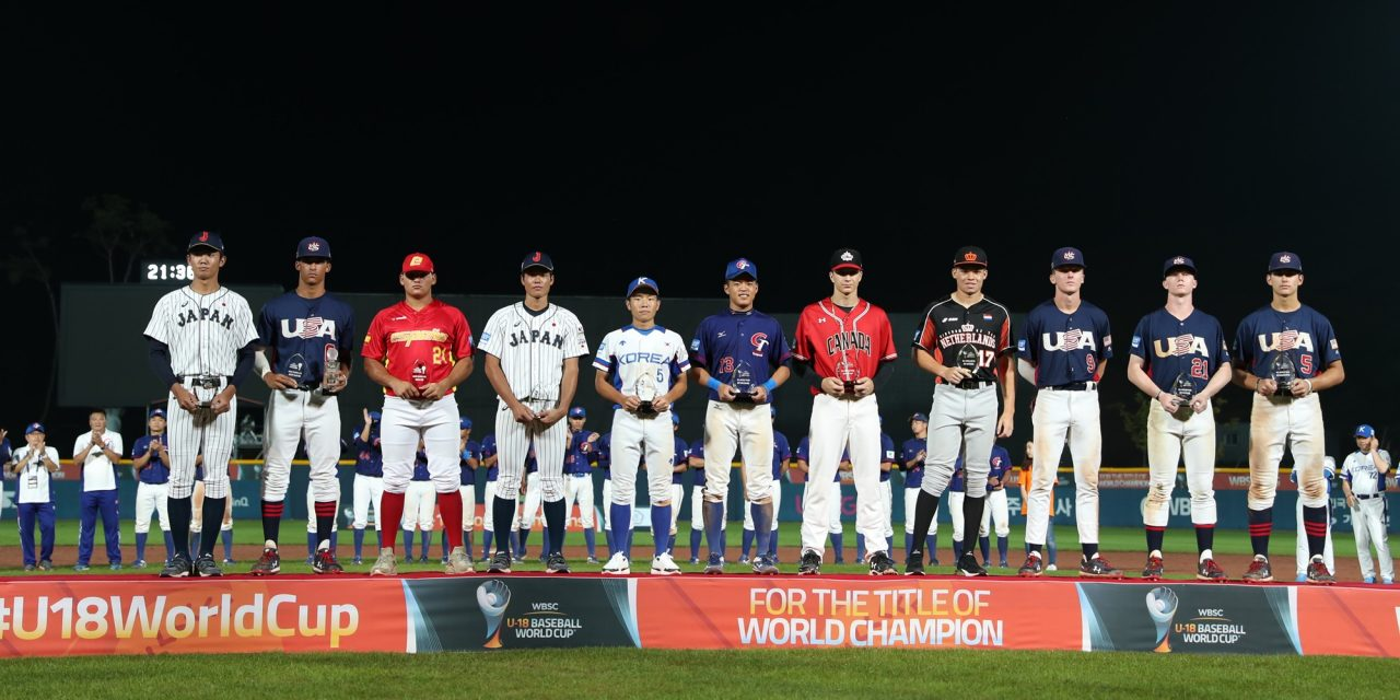 U-18 Baseball World Cup: Gomm named to All-World Team
