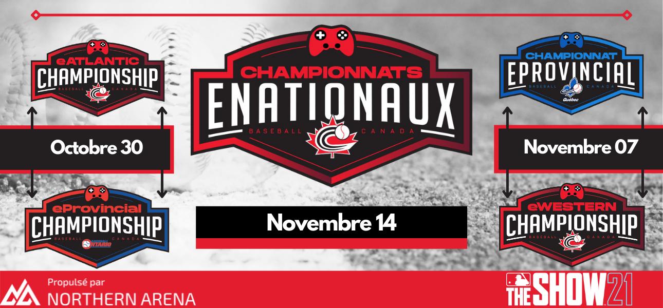 Inscrivez-vous maintenant pour le championnat eNationaux de Baseball Canada