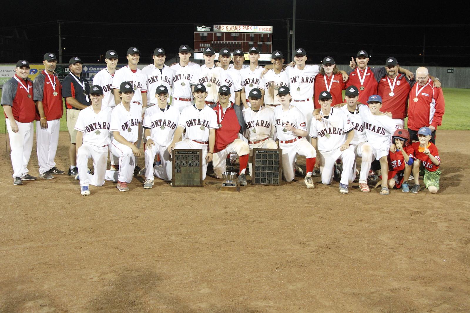 Coupe Baseball Canada : L'Ontario vainqueur!