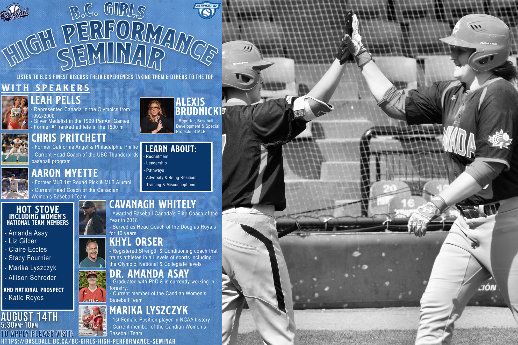 Register Today: BC Girl's Baseball High Performance Seminar