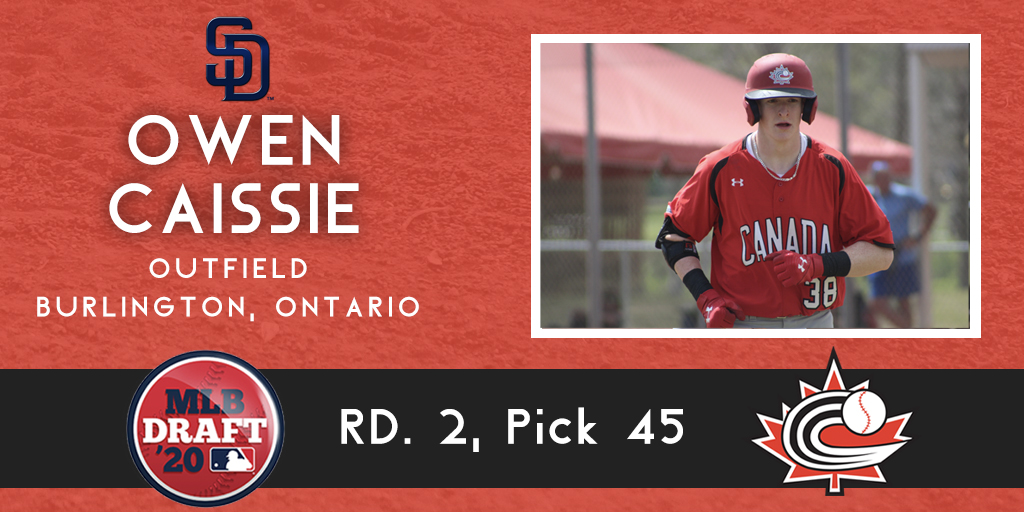 MLB DRAFT RECAP: Padres make Caissie top Canadian selected in 2020 MLB Draft