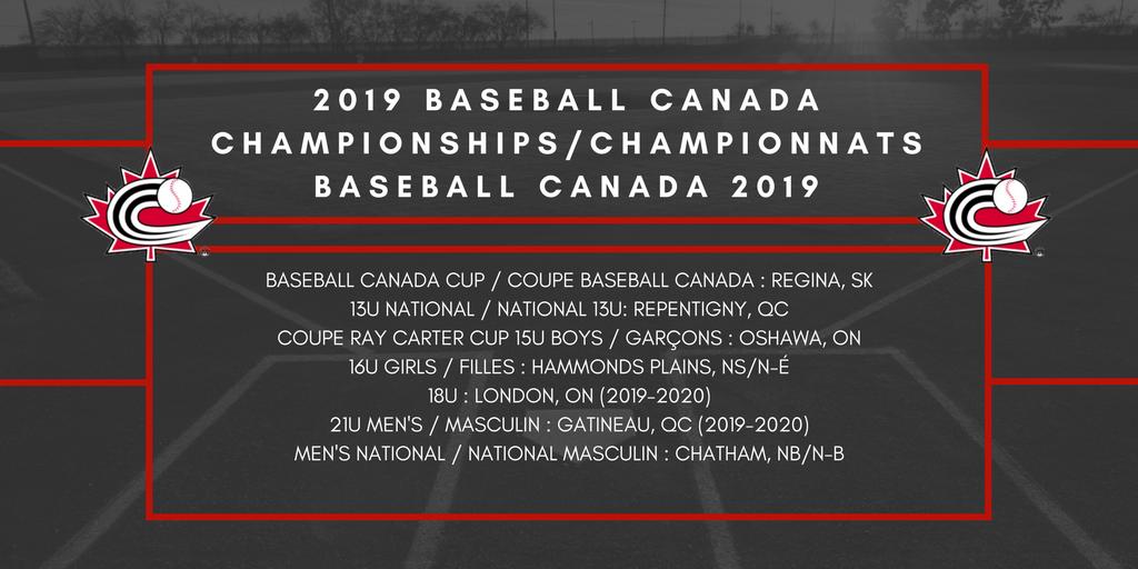 Baseball Canada determines National Championship host sites
