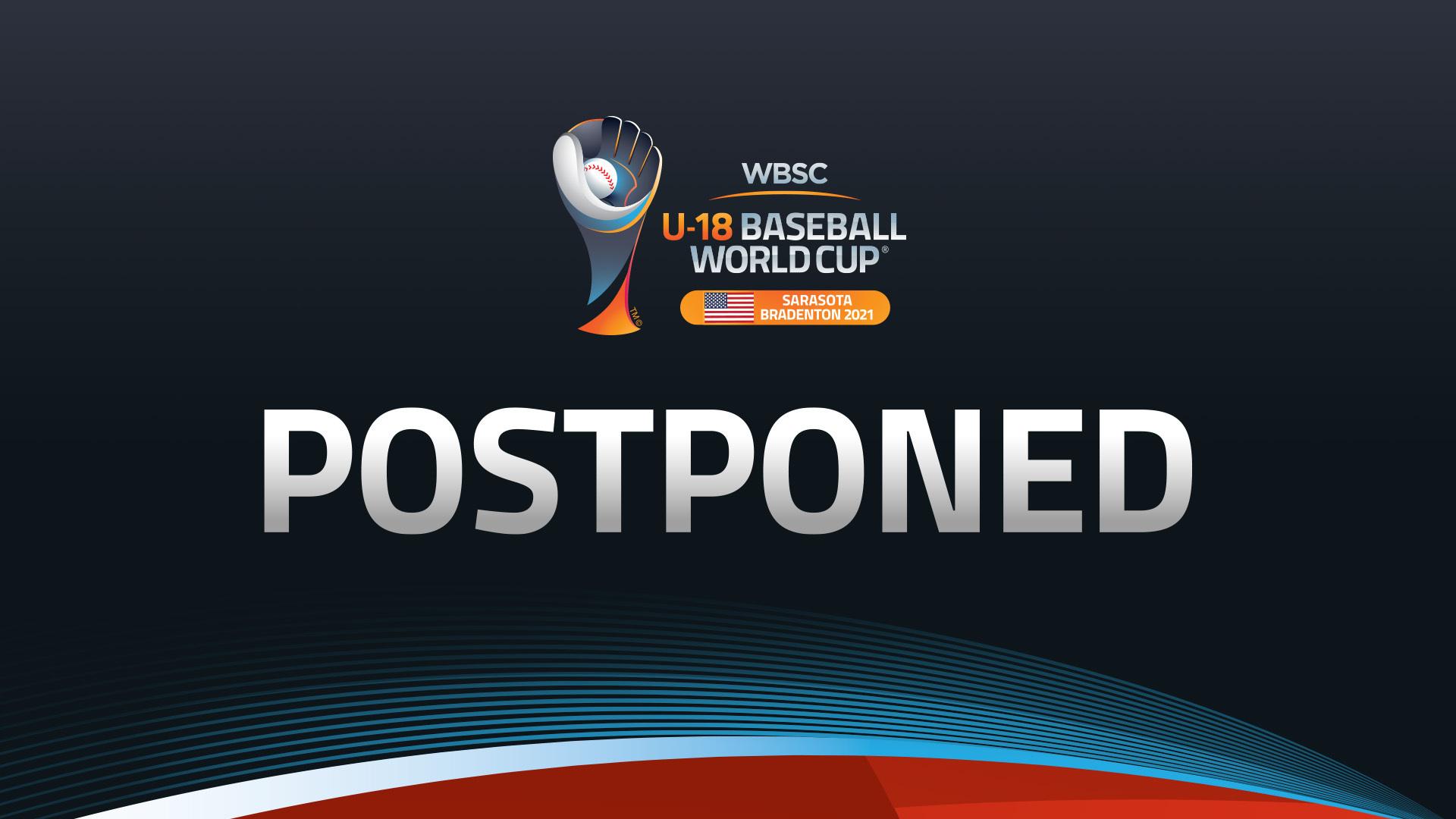 WBSC postpones U-18 Baseball World Cup to 2022