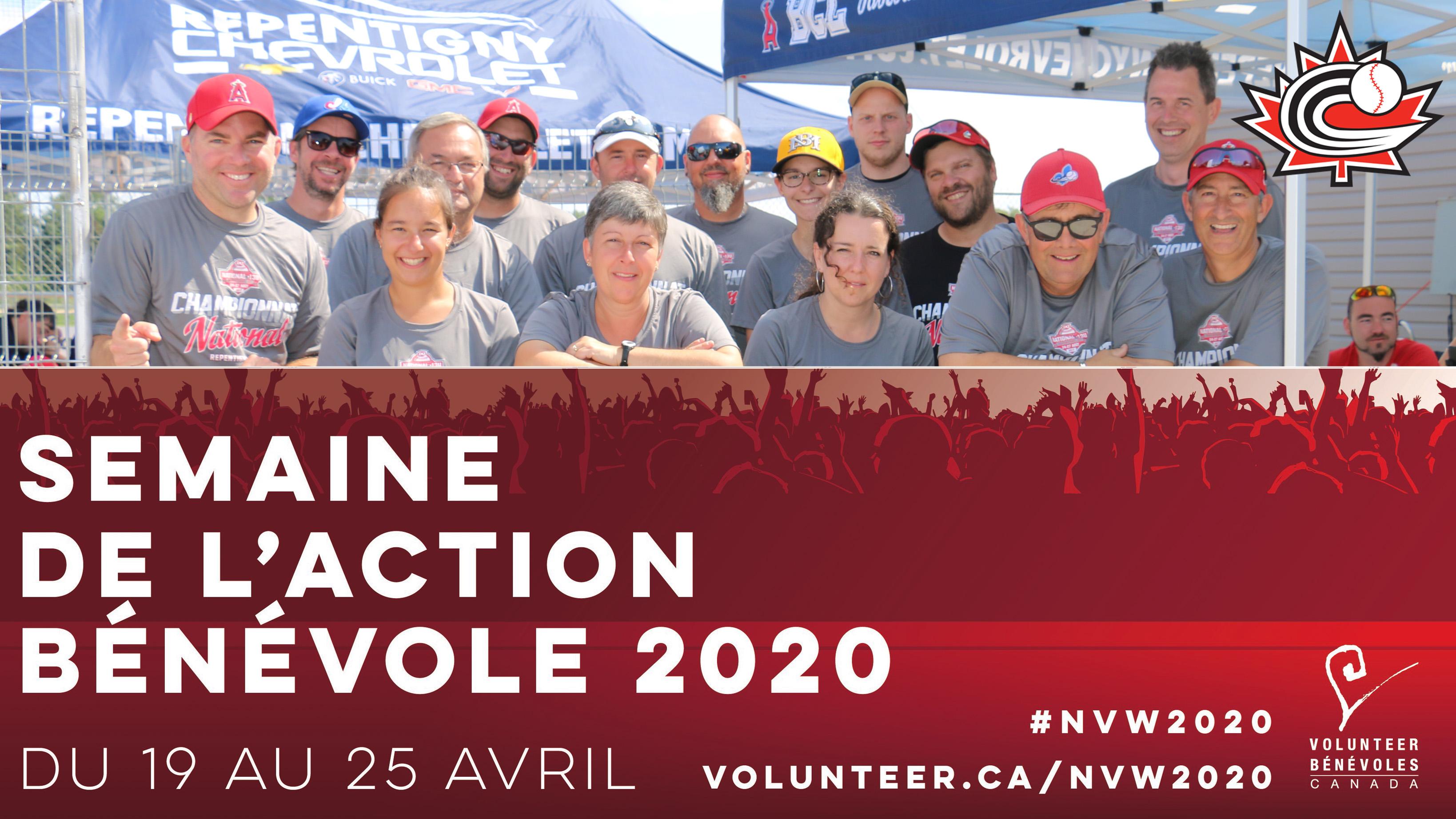 SEMAINE NATIONALE DE L'ACTION BÉNÉVOLE: Merci aux bénévoles de baseball