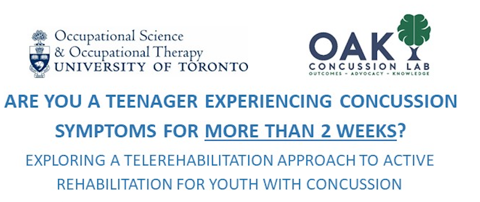 Participants Needed: University of Toronto/OAK Concussion Lab study