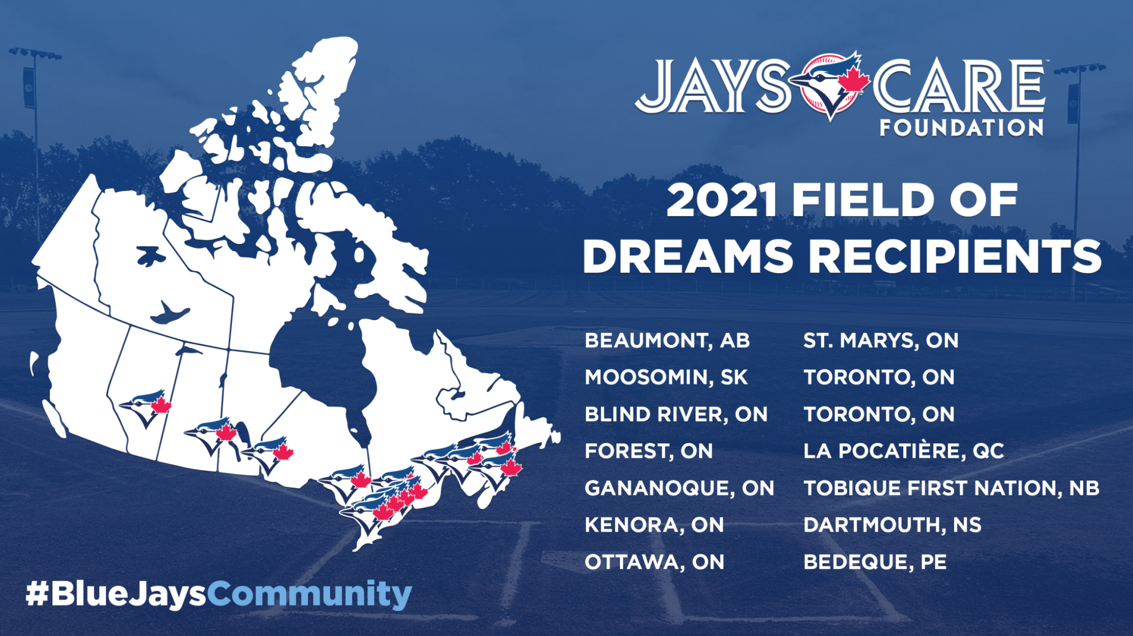 2022 Jays Care Field Of Dreams application cycle now open!