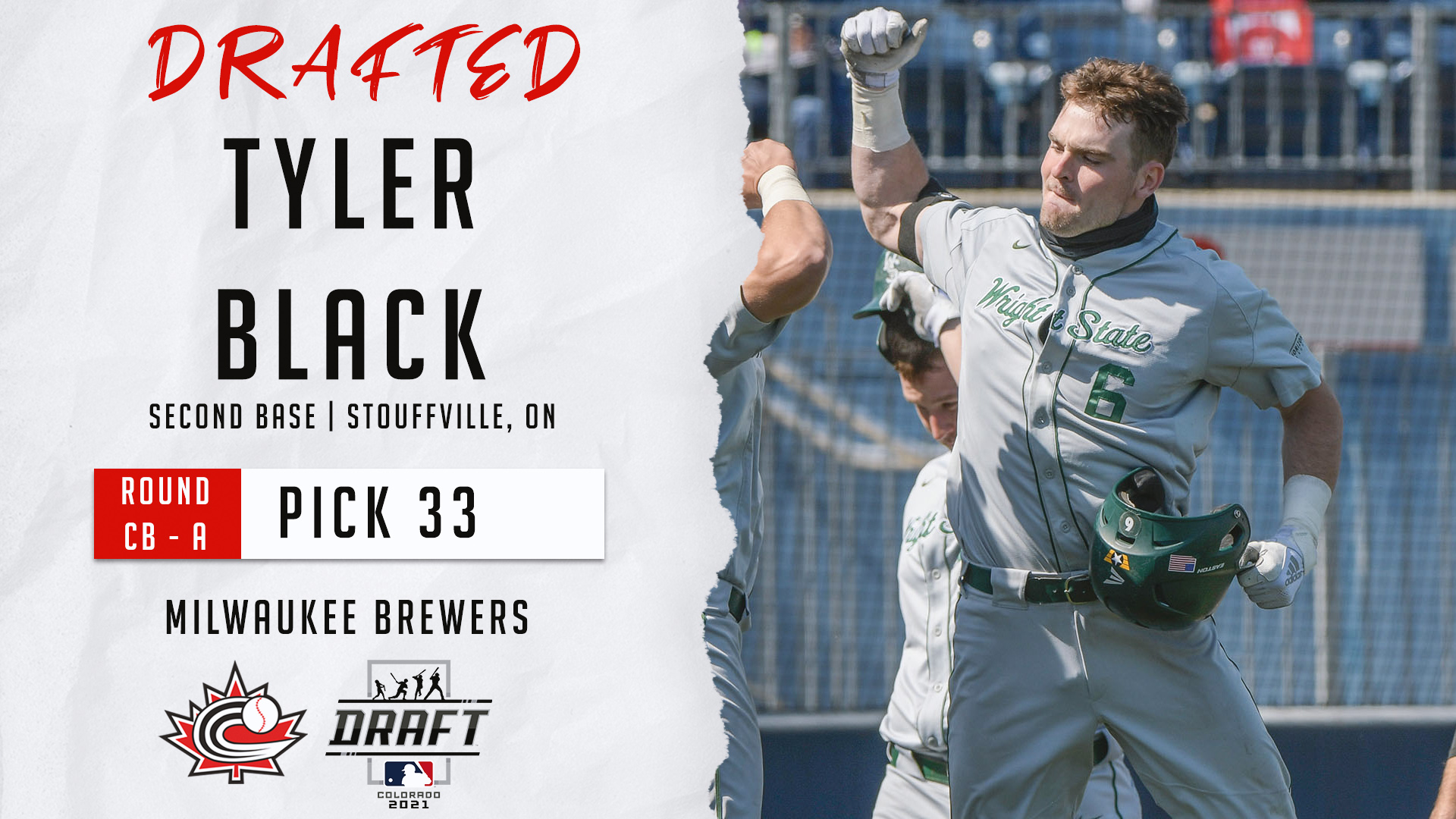 MLB DRAFT: Tyler Black first Canadian selected in 2021 MLB Draft