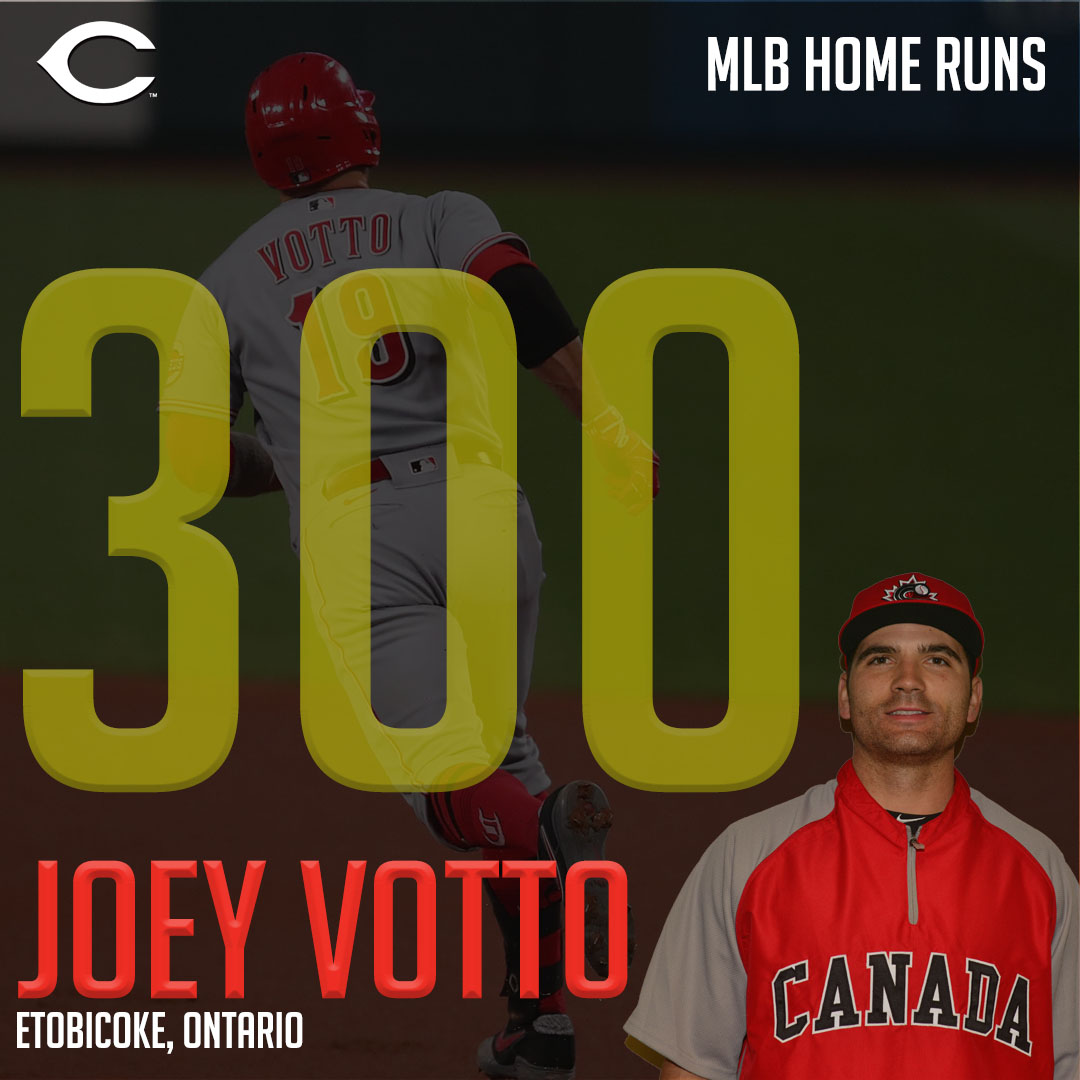 Votto becomes second Canadian to reach 300 home run mark