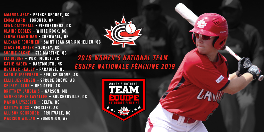 Baseball Canada announces 2019 Women's National Team